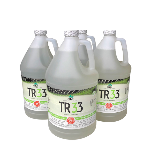 4 one gallon bottles of TR33 with green labels