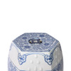Blue & White Hexagonal Lotus Stool