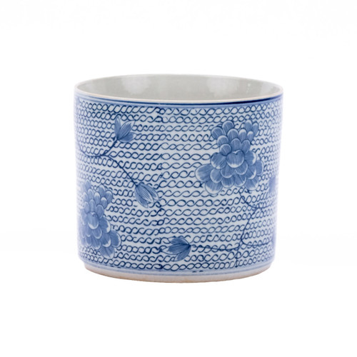 Blue & White Chain Orchid Pot