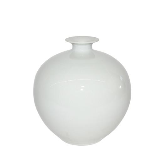 White Pomegranate Vase