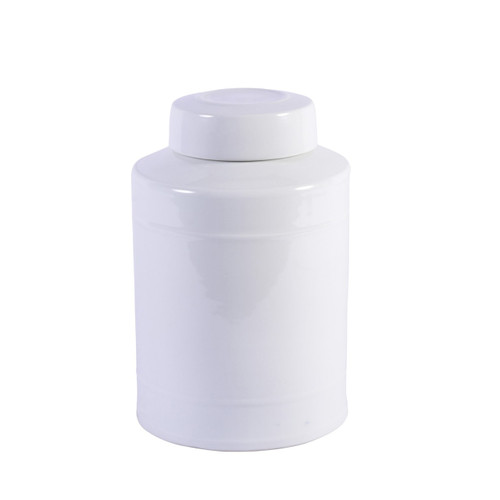 Round Tea Jar White - 2 Sizes