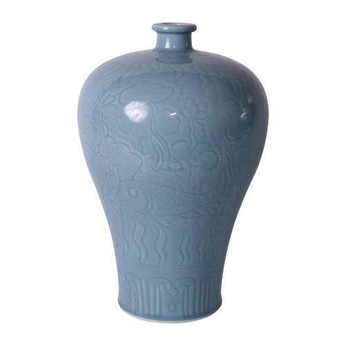 Celadon Fish Plum Vase