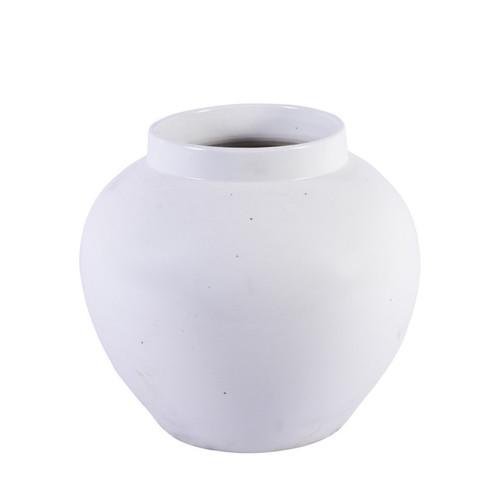 Matte White Open Top Melon Jar