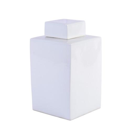 White Square Tea Jar