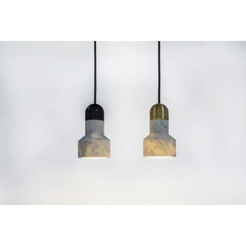Light Marble Pendant Lamp - Qie Gold