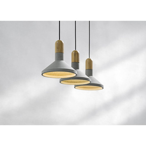 Recycled Cement Pendant Lamp - Shang Bamboo