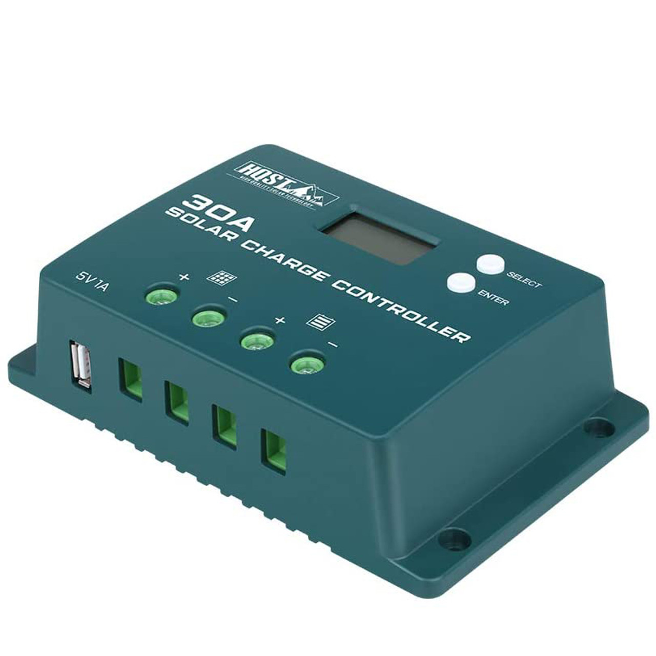 PWM 30A Positive-Ground Solar Charge Controller