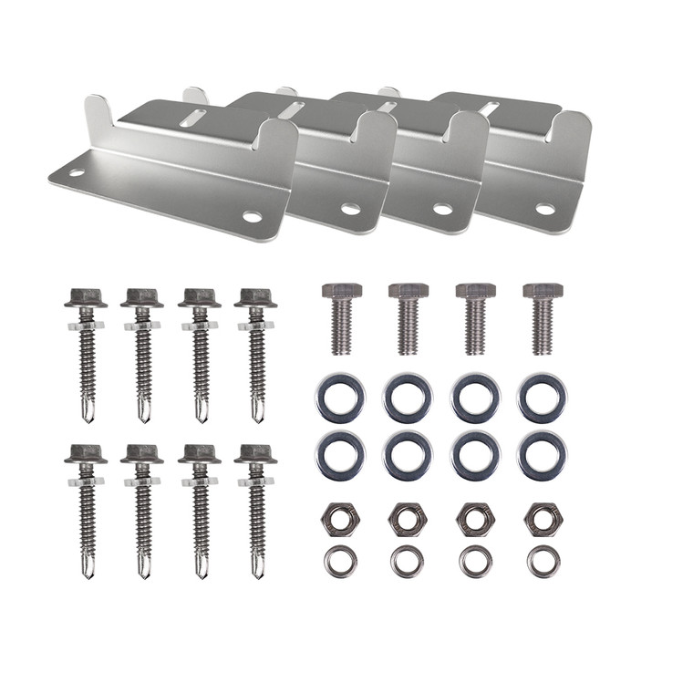HQST Solar Panel Mounting Z Brackets with Nuts and Bolts -- 4 Sets of RV, Boat, Roof, Wall and other Off Gird Installation