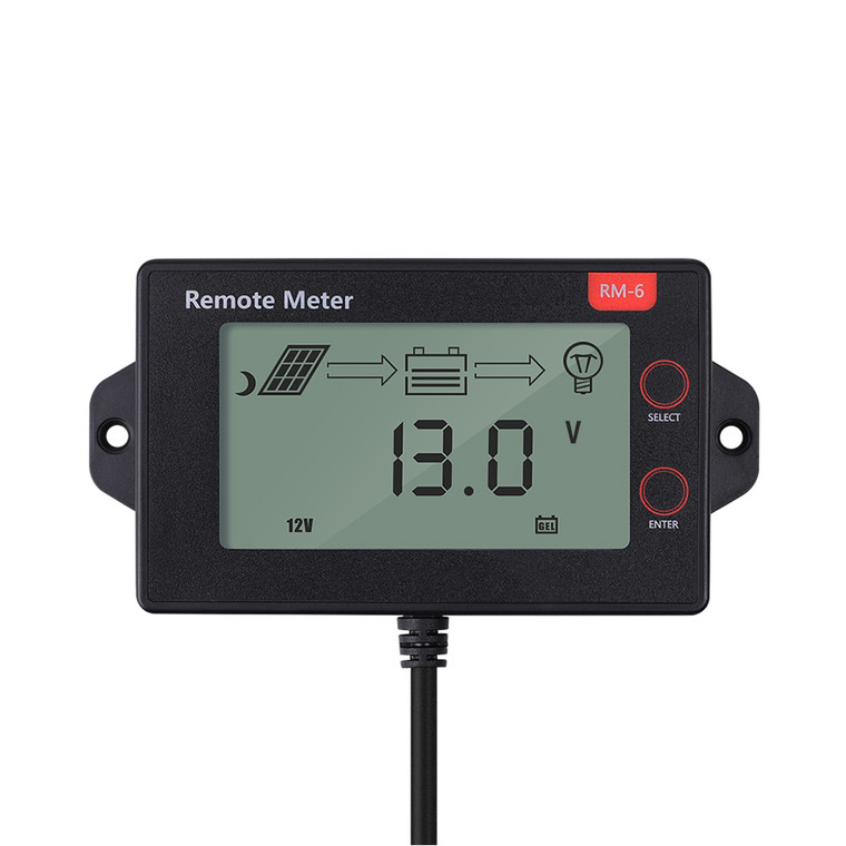 MPPT Negative-Ground Solar Charge Controller LCD Display