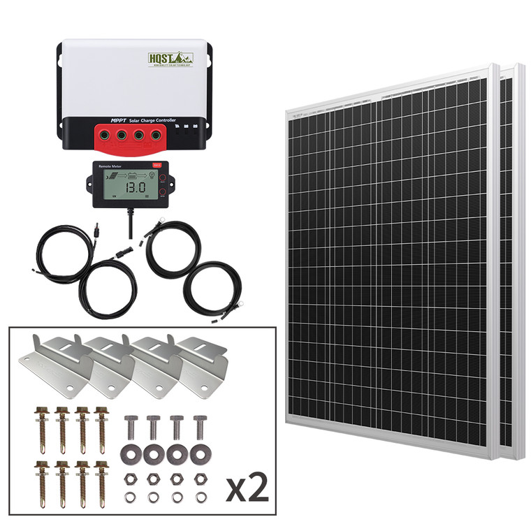200 Watt 12 Volt Polycrystalline Solar Panel Kit