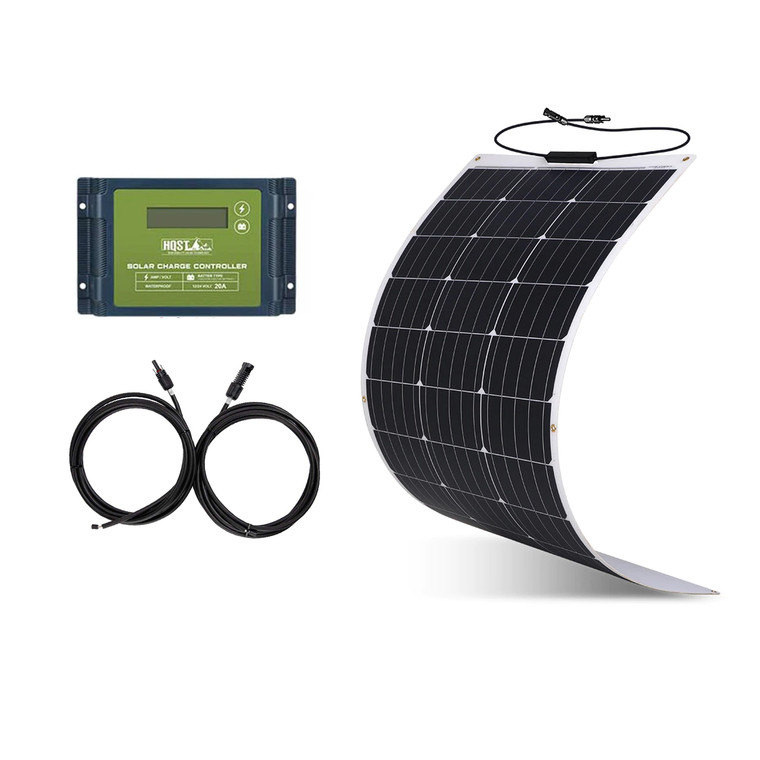 100 Watt 12Volt Flexible Monocrystalline Solar Panel Kit