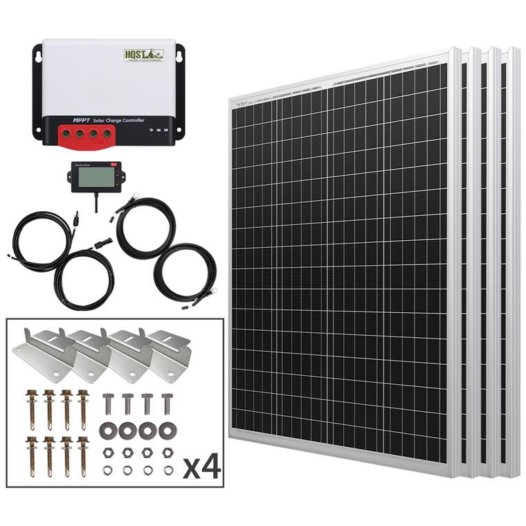 400 Watt 12/24 Volt Polycrystalline Solar Panel Kit