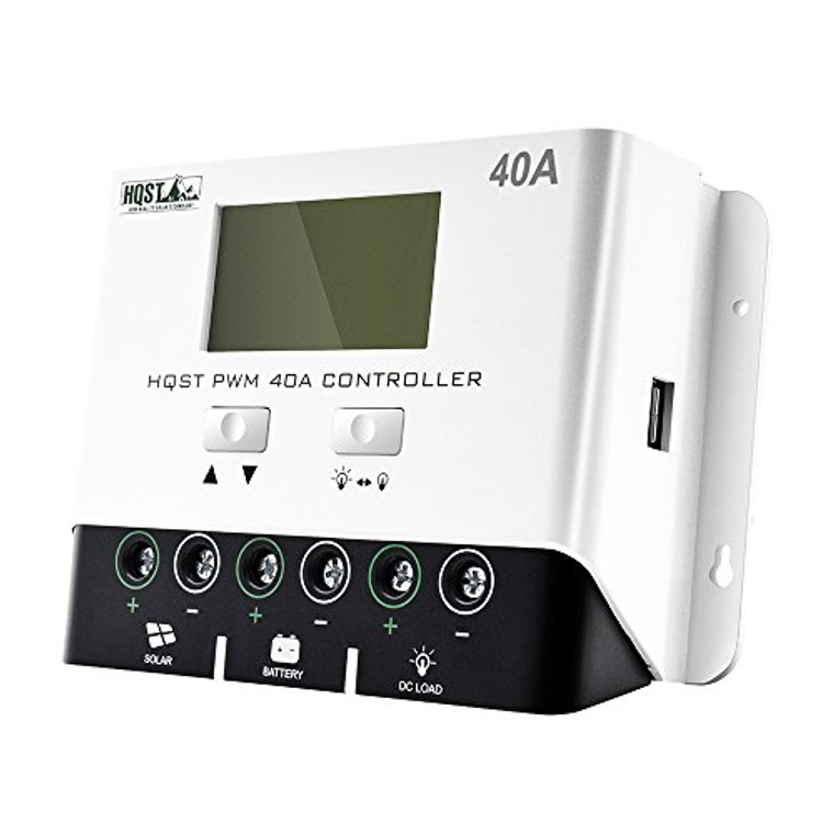 Negative Ground 40A PWM Solar Charge Controller