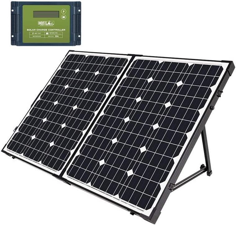 HQST 100 Watt 12 Volt Monocrystalline Solar Panel Suitcase