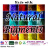 Dye-Free (No FD&C Artificial Colors) Made in the USA with Natural Pigments from the Earth.