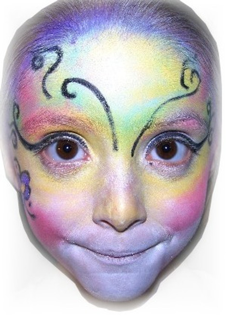 "8pc Natural Face Paint ""Fantasy Butterfly"" Halloween Costume Makeup Kit"