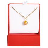 Pineapple Swarovski Crystal Gold Necklace | Vivid Painting