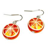 Orange Fruit Swarovski Crystal Drop Earrings | Vivid Painting