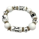 Drum and Dancer Bracelet - Dancer Gift - Drummer Gift - Handmade Glass Beaded Bracelet  for Women  - Fiona -  IUP493