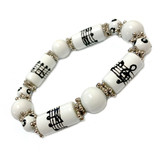 Music Staff Notes Bracelet - Teacher Appreciation Gift- Handmade Glass Beaded Bracelet  for Women  - Fiona -  IUP494