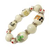Colorful Music Staff Notes Bracelet - Teacher Appreciation Gift- Handmade Glass Beaded Bracelet  for Women  - Fiona -  IUP495