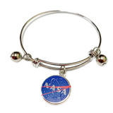 NASA Logo Charm Bangle Bracelet - Science Galaxy Astronomy Jewelry Gift for Women - Fiona -  BR3031A