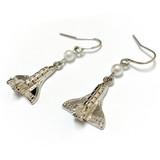 Space Shuttle Endeavor  Earrings - Galaxy Space Astronomy Jewelry for Women - Fiona -  E820B