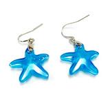 Blue Starfish Swarovski Crystal Drop Earrings | Vivid Painting