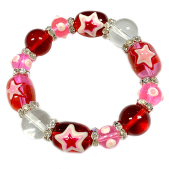 The Love Bracelet -  Friendship Bracelet Heart - Best Gift For Girlfriend - Beaded Bracelets for Women - Pink - Fiona - IUP634
