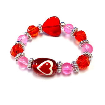 The Love Bracelet -  Heart Bracelet - Kids Bracelet - Bracelet for Daughter - Red - Fiona - IUP023KID