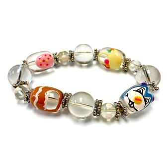 Easter Bunny Egg Basket Bracelet for Girls  - Easter Jewelry for Daughter - Handmade Glass Beaded Bracelet - Fiona - IUP282