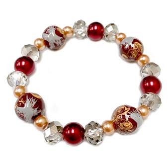 Pluto Bracelet - Dwarf Planet Bracelet - Galaxy Space Astronomy Jewelry - Handmade Glass Crystal Beaded Bracelet  for Women - Fiona -  BR2820I