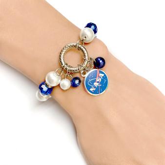 NASA Logo Charm Bracelet - Science Galaxy Astronomy Jewelry Gift for Women - Fiona -  BR2474E_NASA