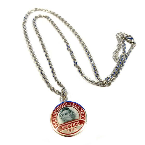 Rosie the Riveter Charm Necklace (NE-3180B)