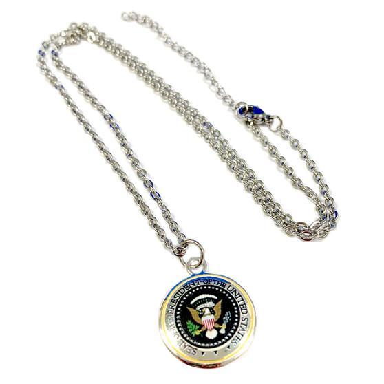 USA Presidential Seal Charm Necklace (NE-3180C)