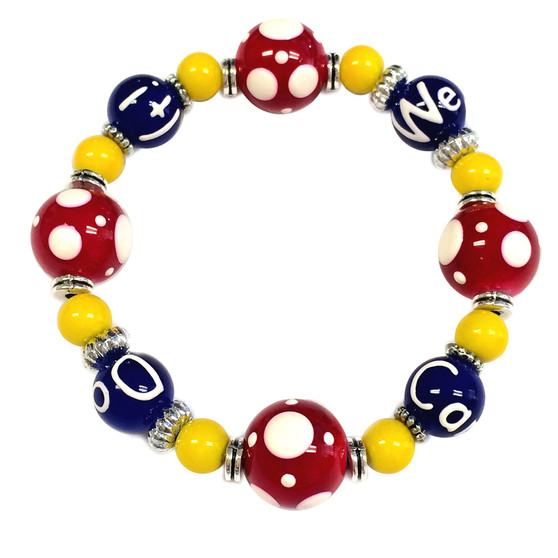 """Painted """"We Can Do It"""" Rosie the Riveter Bracelet - Carded, Limited Edition (BR-2924)"""