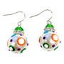Dream Polka Dots Glass and Crystals Beaded Drop Earrings(E-375B) -Joy, Pure, Calm, Peace