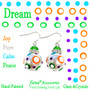 Dream Polka Dots Glass and Crystals Beaded Drop Earrings(E-375B) - Carded - Joy, Pure, Calm, Peace
