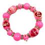 Valentine Bracelet - Love Bracelet - Kiss Bracelet - Glass Beaded Bracelet - Hand painted - IUP651