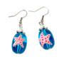 Pink Starfish Glass Drop Earrings - Handmade Nautical Beach Ocean Glass Crystal Jewelry for Teen Girls - Fiona - E27