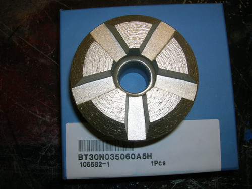 """3"""" Diamond Vantage Beveled Full Rim Plug 30/40 Grit 5 Segments 3/4"""" Arbor Concrete Terrazzo Floor"""
