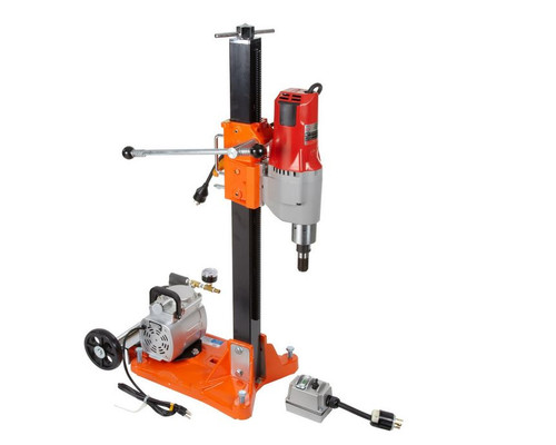 Norton Clipper DR520 Core Drill Rig with Vacuum Pump 20 amp Milwaukee Motor (70184600924) Small Seeds