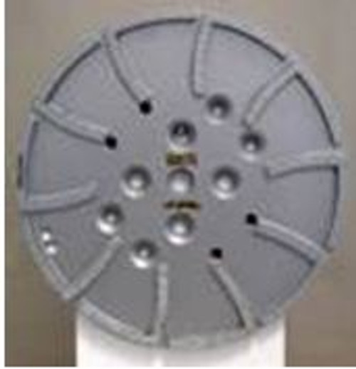 "10"" Diamond Pro Grinding Grinder Head Concrete Surface Preparation Epoxy 20 Segments"