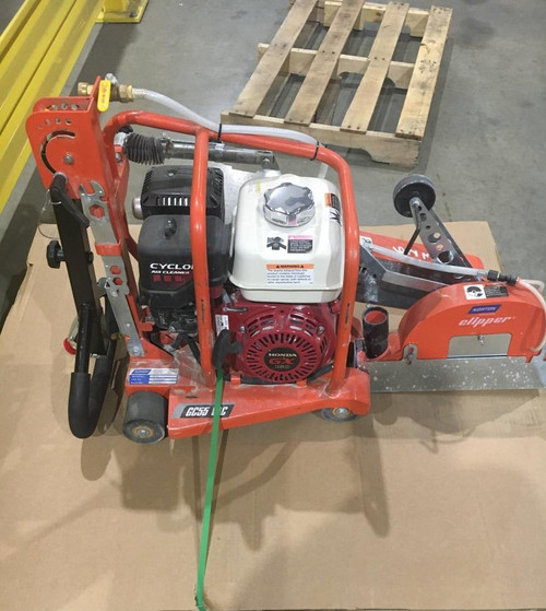 """Small Seeds 10"""" Green Concrete Norton GC55 VAC Saw 5.5HP Honda Engine Only Used 3 hours (70184607798)"""