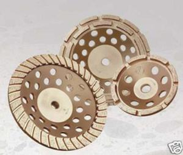 "7"" Double Row Diamond Cup Wheel Grinder Concrete Thread"