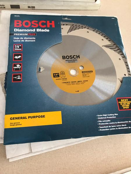 Bosch DB1463 Premium Plus 14-Inch Dry or Wet Cutting Turbo Diamond Saw Blade