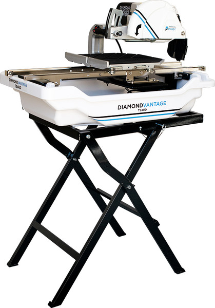 """Small Seeds Vantage 10"""" Tile Saw 2 HP TS400 Free Diamond Blade Free Stand DEWALT Wet Tile Saw with Stand, 10-Inch (D24000S)"""