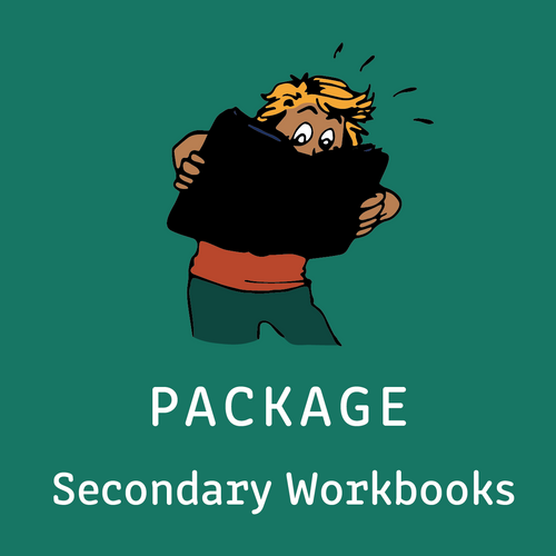 Package - Secondary Intensive Reading Program - 4 Workbooks & Teacher's Manual Package - Reading Age < 8.6 - 10.6