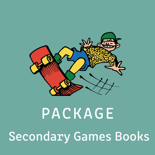 Package - Secondary Games Books - includes Games Books A, B, C & D - Reading Age < 8.6 - 10.6