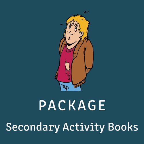 Package - Secondary Activity Books - All 8 Activity Books - Reading Age < 8.6 - 10.6